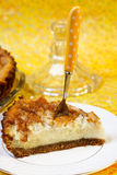 Pear, cinnamon cheesecake Stock Image
