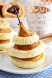 Pear with cinnamon in pastry Royalty Free Stock Photo