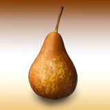 Pear. Close-up image of pear studio isolated against abstract brown-white background royalty free stock image