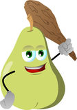 Pear with a club Royalty Free Stock Photo