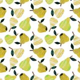 Pear collage pattern vector illustration