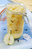 Pear compote Stock Images