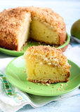Pear crumble cake Royalty Free Stock Photo