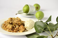 Pear Crumble Stock Images