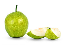 Pear cut fruit Stock Photos