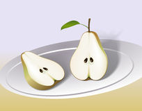 Pear Cut in Half Stock Images