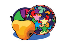 PEAR and decorative tray Royalty Free Stock Photography