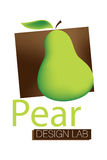 Pear Design Lab Logo. Logo Design for Design Lab Stock Photo