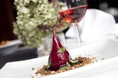Pear dessert Stock Image