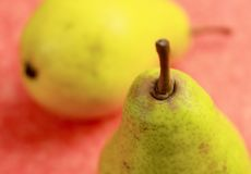 Pear detail. Close up of pear with very low depth of field Royalty Free Stock Photos