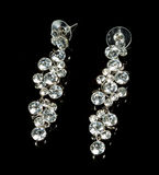 Pear Diamonds Earrings Stock Photography