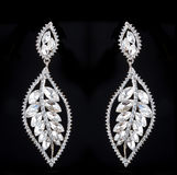 Pear Diamonds Earrings Royalty Free Stock Photography