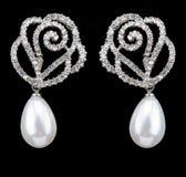 Pear Diamonds Earrings Stock Image