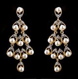 Pear Diamonds pearl Earrings Stock Photo