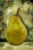 Pear on  dirty green background Stock Photo
