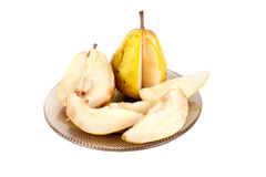 Pear on a dish Royalty Free Stock Photo