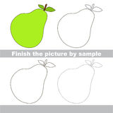 Pear. Drawing worksheet. Royalty Free Stock Photos
