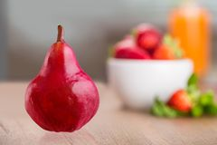 Pear. Evolution Change Fruit Missing Bite Image Sequence Progress Royalty Free Stock Photography