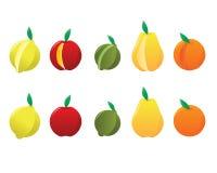 pear för orange för äpplecitronlimefrukt Arkivbild