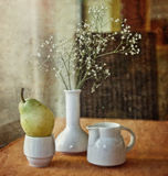 Pear and flower Stock Photography