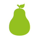 Pear fresh fruit icon Royalty Free Stock Photo