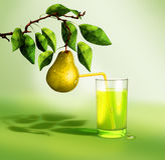 Pear fresh juice Stock Photo