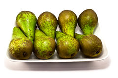 Pear fruit. Green pear isolated on white Royalty Free Stock Photo