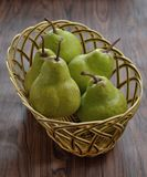 Pear Fruit basket Stock Photography