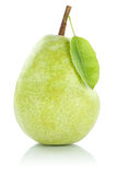 Pear fruit green isolated on white Stock Image