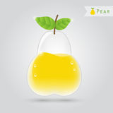 Pear fruit juice Stock Photo