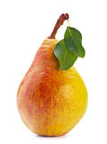 Pear fruit with leaf Royalty Free Stock Photo