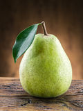 Pear fruit with leaf. Stock Images