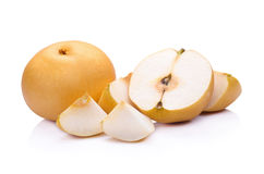 pear fruit over white background Stock Images