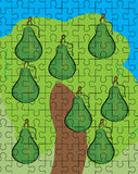 Pear fruit puzzle pattern Royalty Free Stock Photo