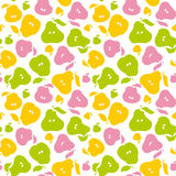 Pear fruit seamless pattern for fabric Royalty Free Stock Photos