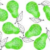 Pear fruit texture pattern watercolor design illustration stock illustration