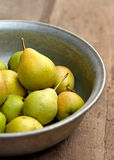 Pear fruits in bowl Royalty Free Stock Images