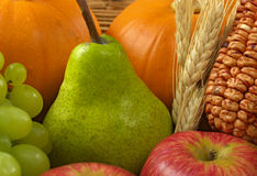 Pear Among Fruits and Vegetables Royalty Free Stock Photography