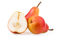 Pear Fruits whole and half Royalty Free Stock Photography