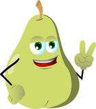 Pear gesturing the peace sign Stock Photography