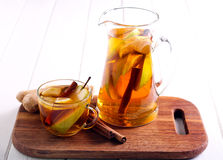 Pear, ginger, citrus drink Royalty Free Stock Photos