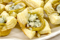Pear and Gorgonzola Cheese Puff Pastries Royalty Free Stock Photo