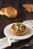 Pear and gorgonzola puff pastry basket Stock Photos