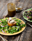Pear and Gorgonzola Salad. Plated Pear and Gorgonzola Salad with vinigrette dressing Stock Images