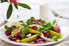 Pear with Grape and Blue cheese salad Royalty Free Stock Image