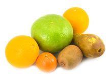 Pear grapefruit oranges tangerine royalty free stock images