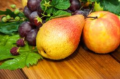 Pear and grapes Royalty Free Stock Photos