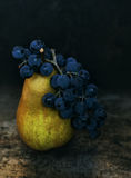 Pear and grapes Royalty Free Stock Photography
