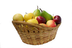 Pear green, yellow and red apples Royalty Free Stock Photo