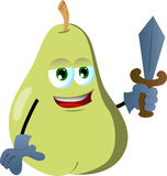 Pear guard with sword Royalty Free Stock Images